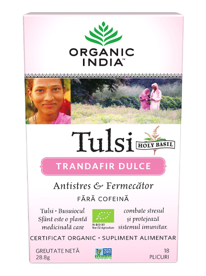 Imagine ORGANIC INDIA Ceai Tulsi | Trandafir Dulce
