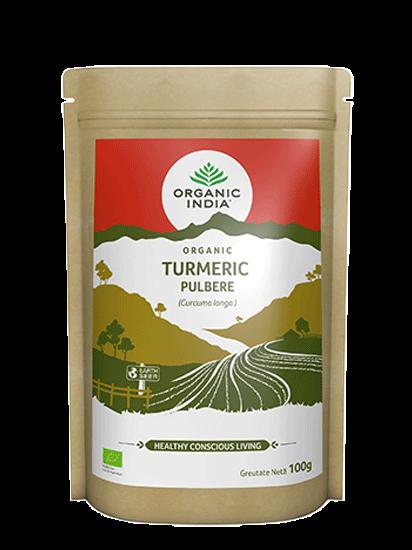 Picture of ORGANIC INDIA| Turmeric Pulbere 100% Certificată Organic Fără Gluten 100g