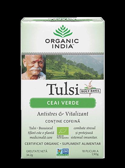Picture of ORGANIC INDIA Ceai Antistres și Vitalizant Natural Tulsi Ceai Verde 100% Certificat Organic