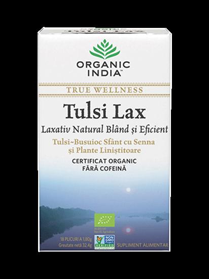 Picture of ORGANIC INDIA Ceai Tulsi Lax Laxativ Blând și Eficient cu Senna 100% Certificat Organic